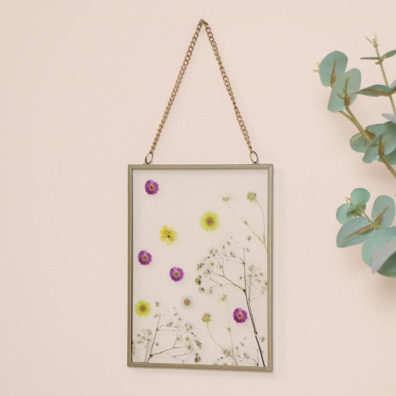 Gold & Glass Flower Wall Plaque