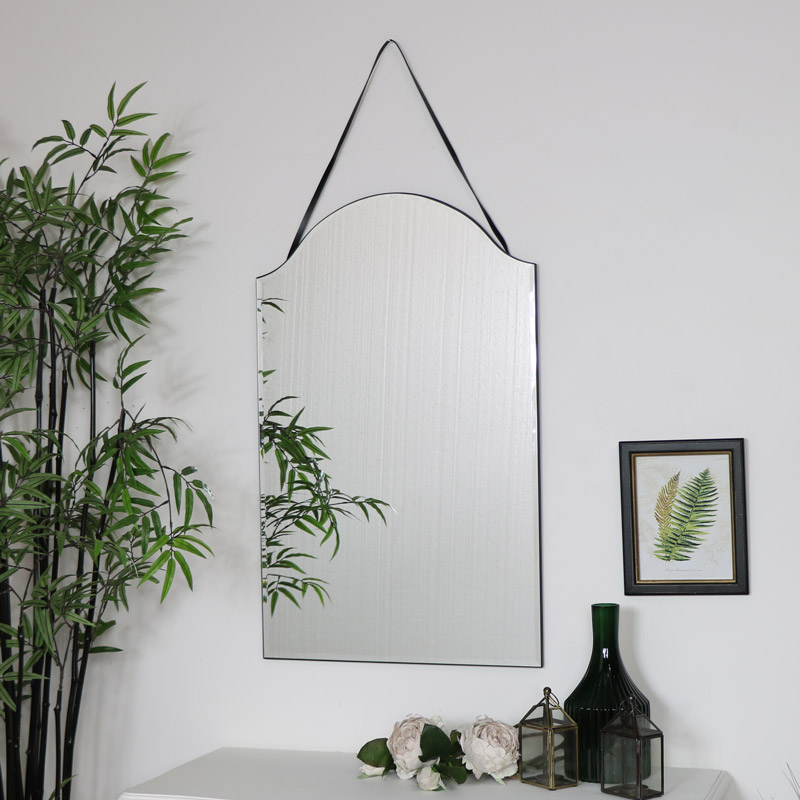 Arched Frameless Wall Mirror 40cm X 60cm Flora Furniture