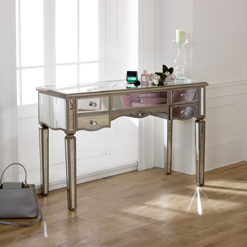 Large Mirrored Dressing Table - Tiffany Range