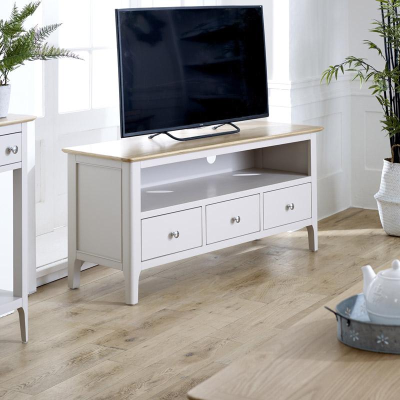 Large Grey TV Cabinet - Devon Range