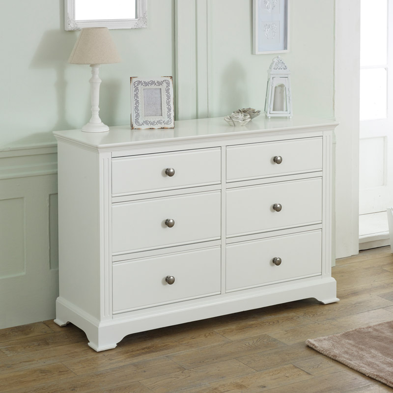 Large White Chest of Drawers - Davenport White Range