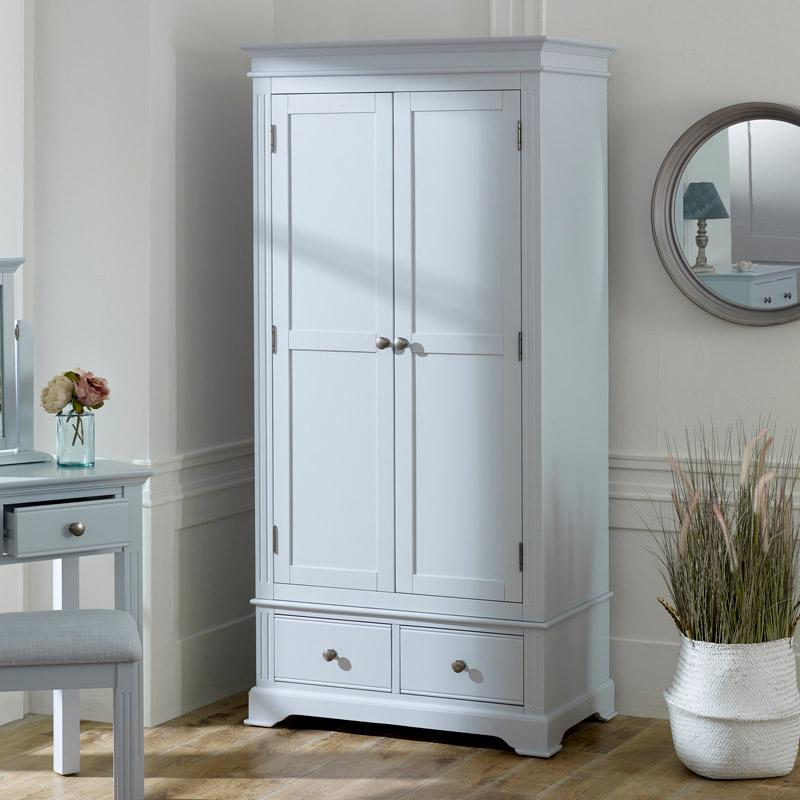 Grey Double Wardrobe - Davenport Grey Range