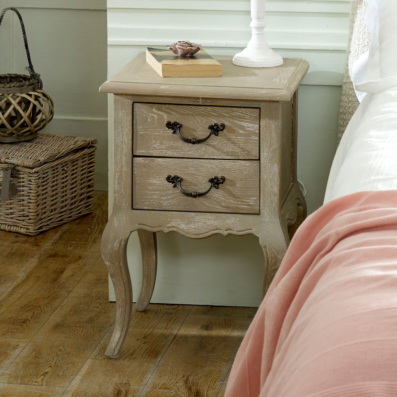 French Style Bedside Table - Brigitte Range