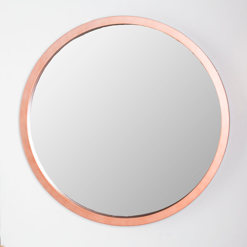Large Round Copper Wall Mirror 80cm x 80cm