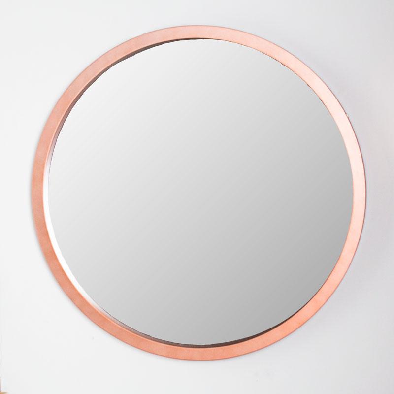 Large Round Copper Wall Mirror 80cm x 80cm