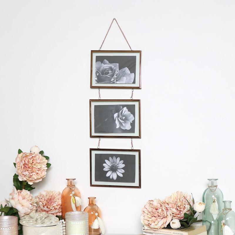 Triple Copper Photo Frame