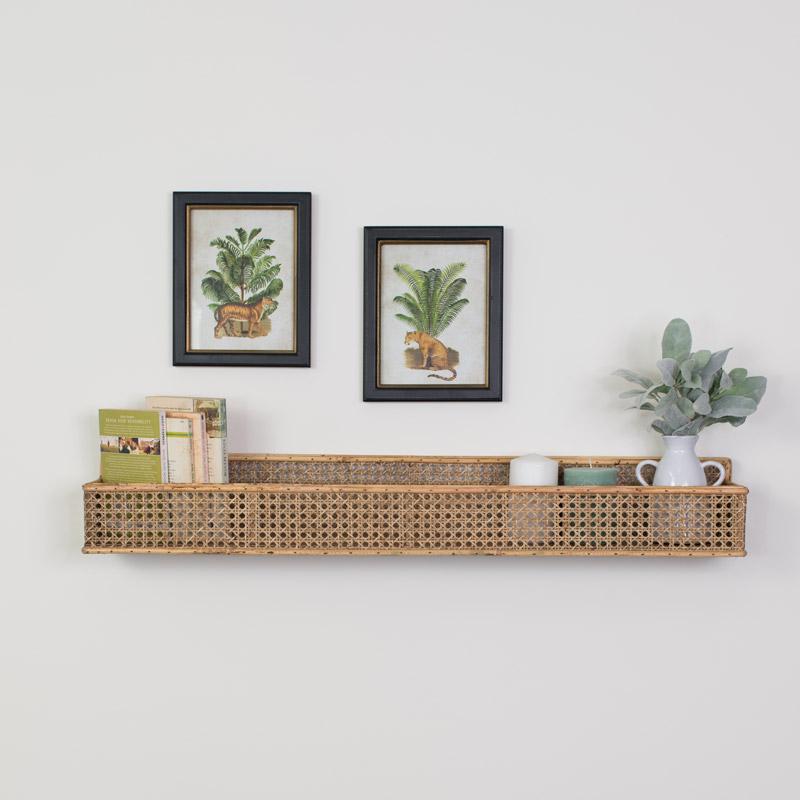 Woven Bamboo Wall Shelf
