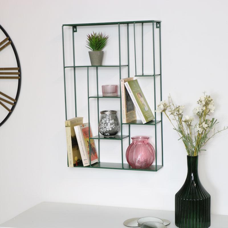 Large Green Metal Multi Shelf