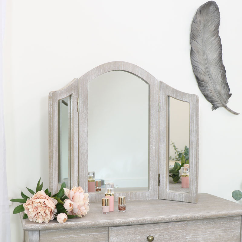 Wooden Triple Mirror - Temperley Range