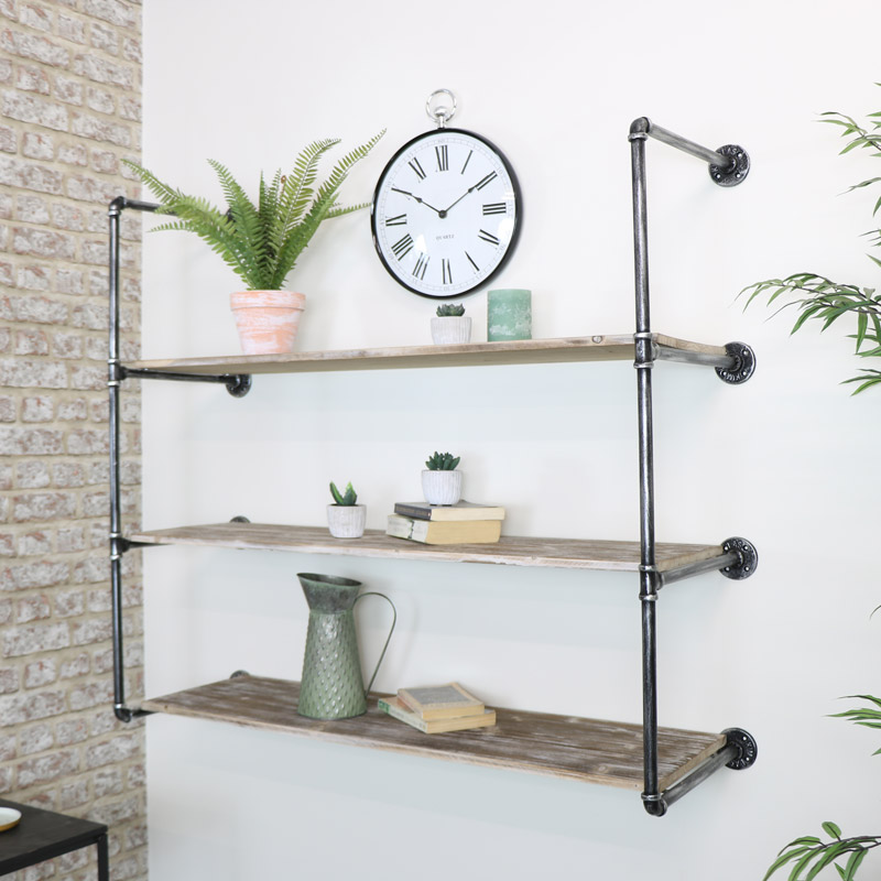 Extra Large Industrial Wall Shelving Unit