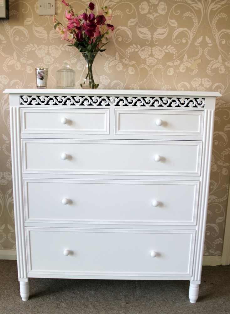 Blanche Range - White 2 Over 3 Chest of Drawers