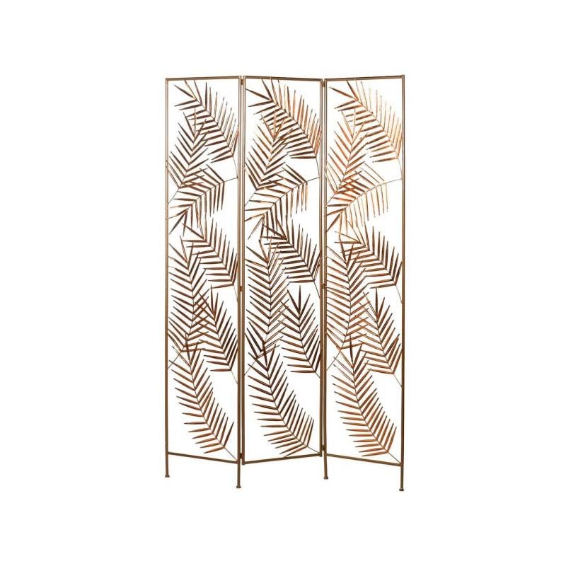 Gold Metal Palm Leaf Room Screen