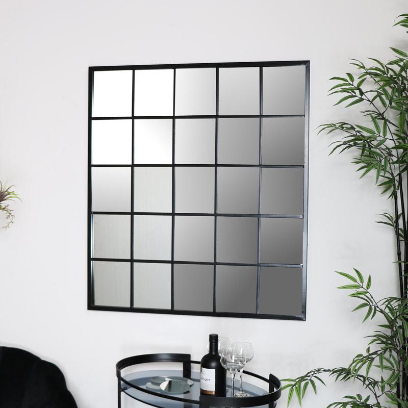 Large Metal Window Mirror