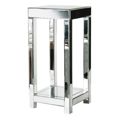 Tall Mirrored Side Table