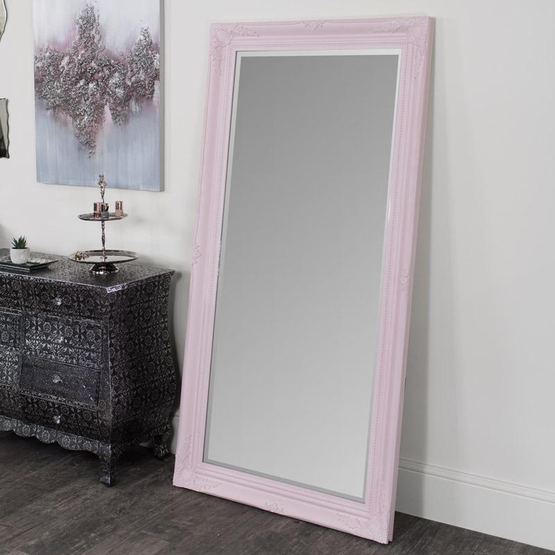 Large Pink Ornate Wall/Floor Mirror 158cm x 78cm