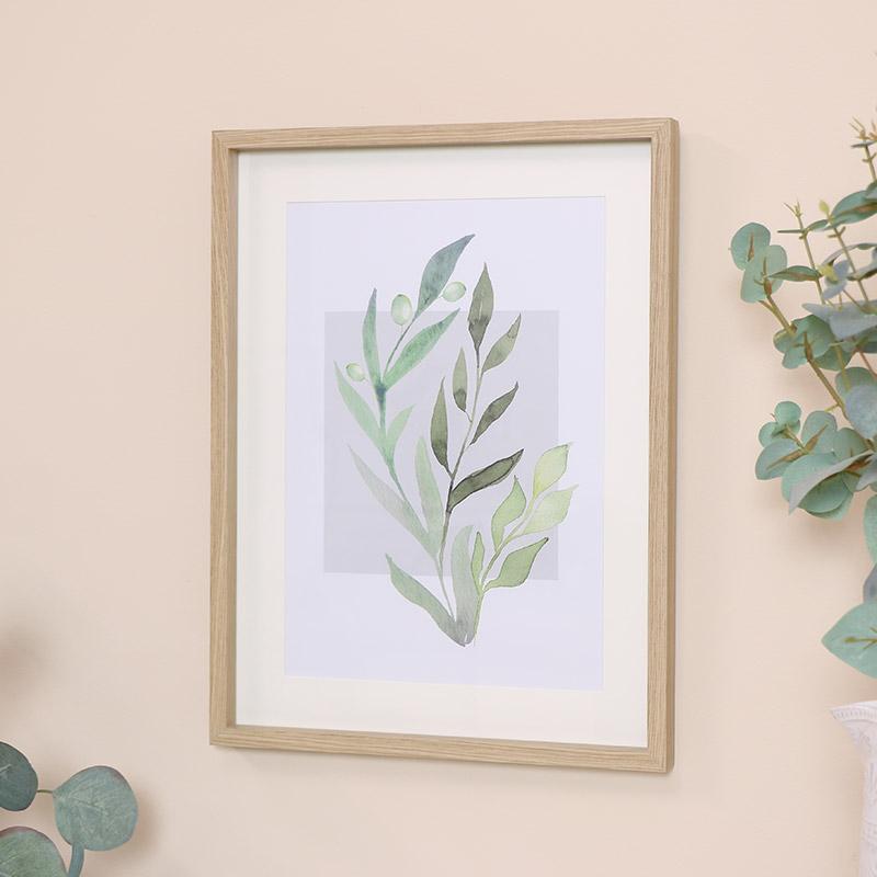 Botanical Green Leaf Wall Print