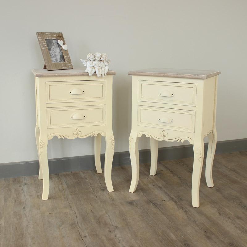 Country Ash Range - Furniture Bundle, Pair of 2 Drawer Bedside Table