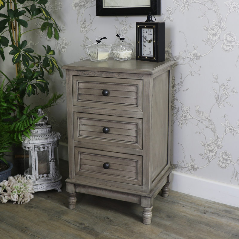 Three Drawer Bedside Chest - Hornsea Range