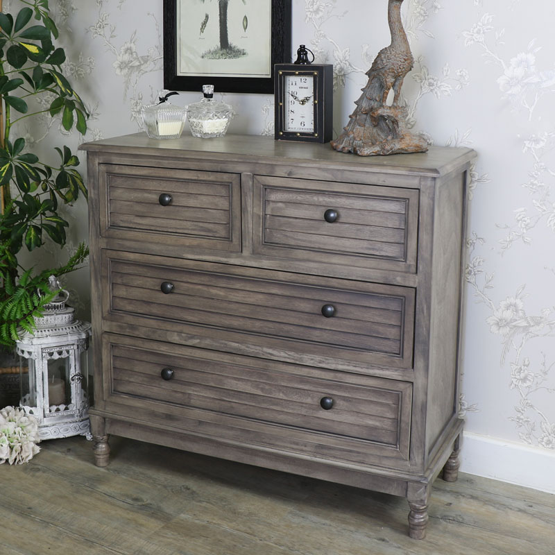 Wooden 4 Drawer Chest of Drawers - Hornsea Range