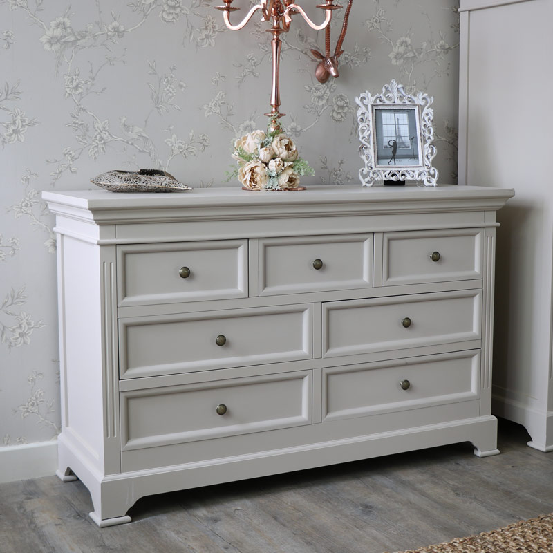 Daventry Taupe Grey Range Grey Chest Of Drawers Flora