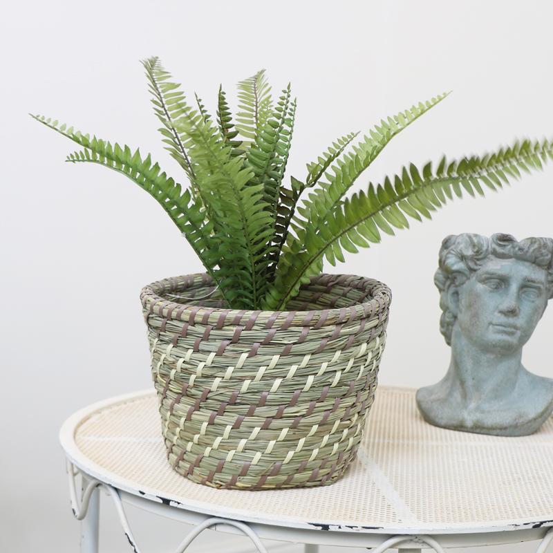 Medium Woven Basket Planter