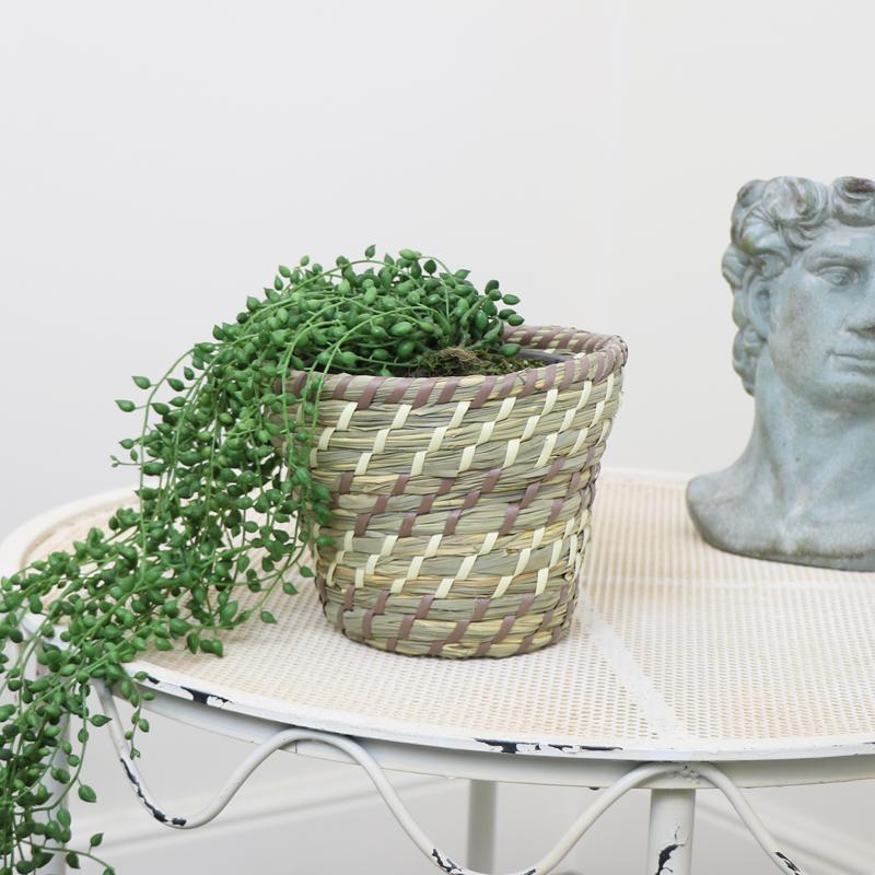 Small Woven Basket Planter