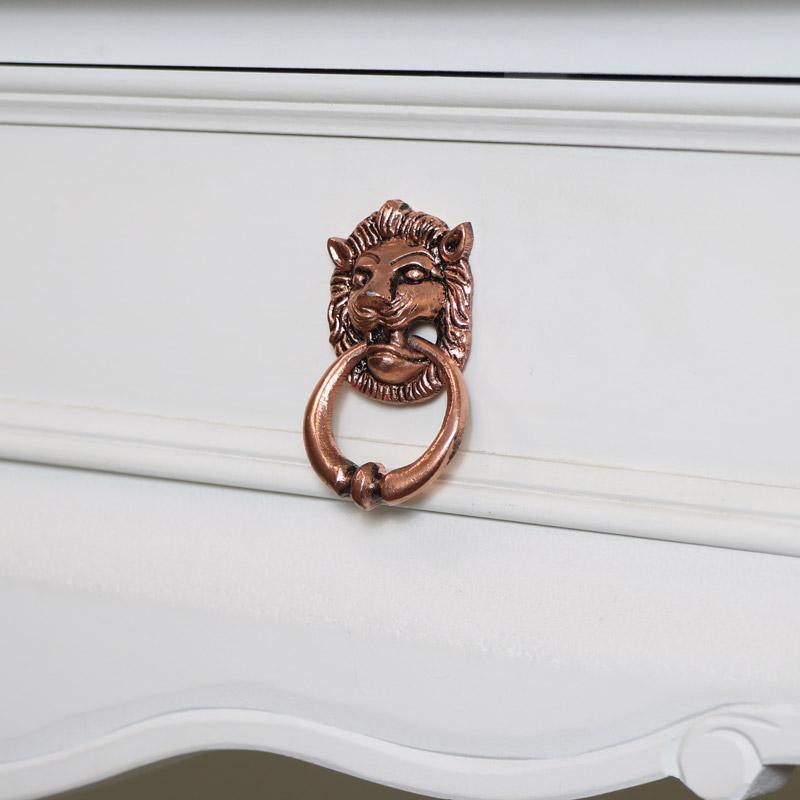 Copper Lion Head Drawer Knob