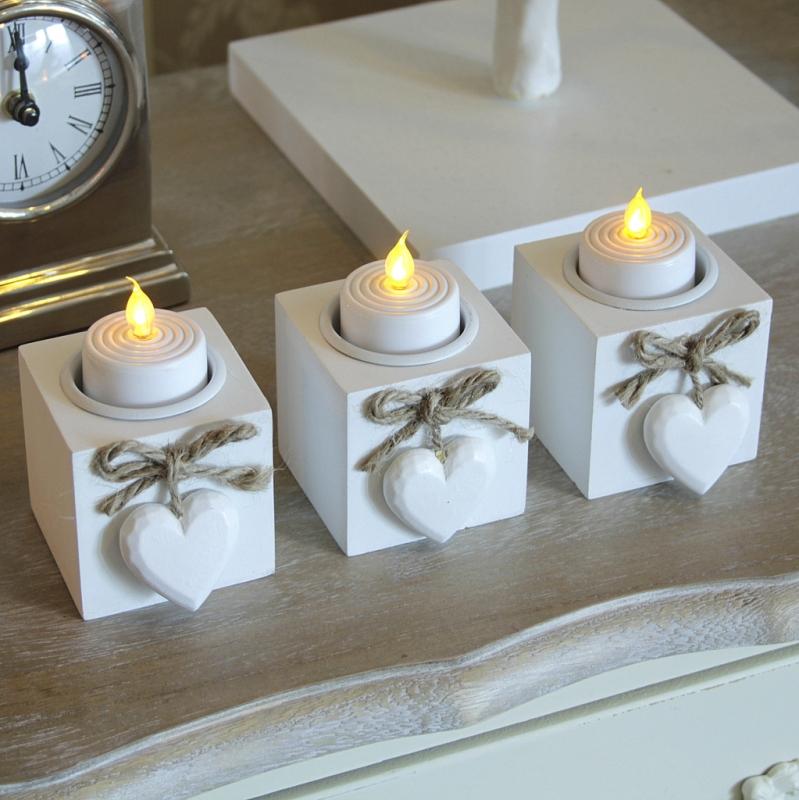 Heart Tealight Holders Set of Three