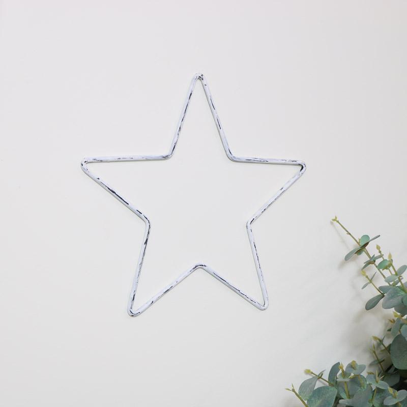 Small White Metal Star
