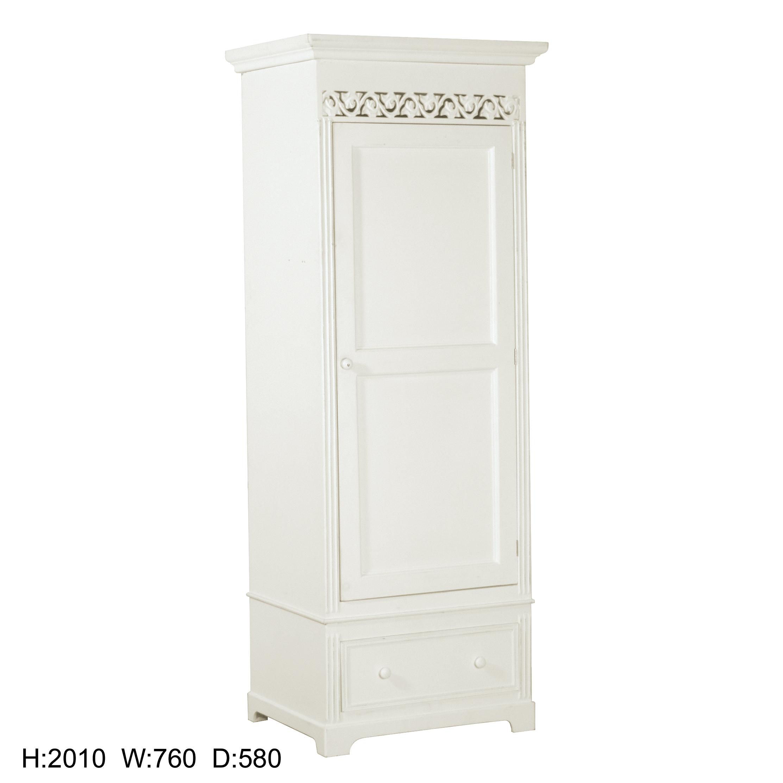 Blanche Range - White Single Wardrobe