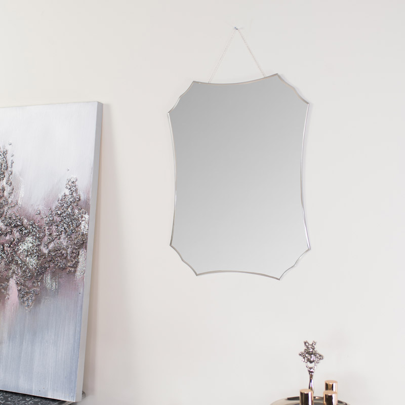 Deco Frameless Bevelled Wall Mirror 38cm x 50cm