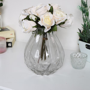 Clear Cut Glass Vase