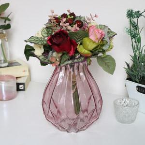 Pink Cut Glass Vase