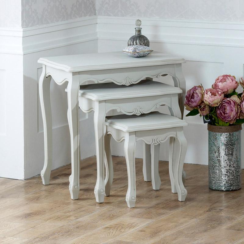 Elise Grey Range - Nest of  3 Tables