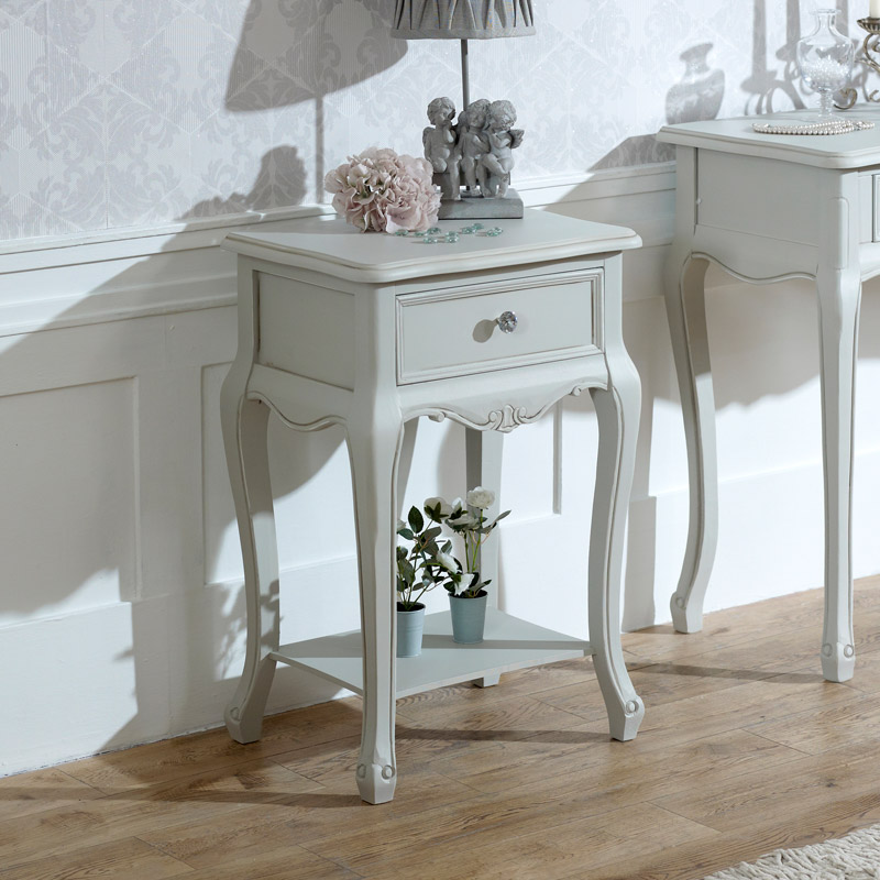 Elise Grey Range - 1 Drawer Lamp Table