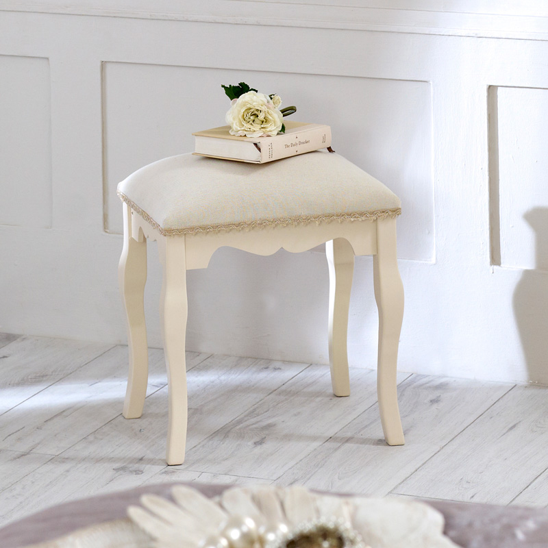 Belgravia Range - Cream Padded Dressing Table Stool