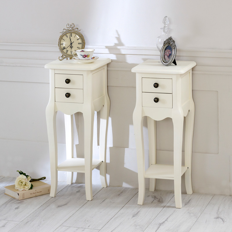 Cream 2 Drawer Bedside Table Furniture Set - Belgravia Range