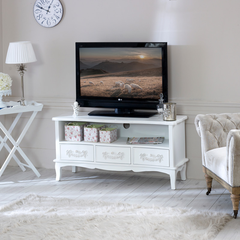 Pays Blanc Range - Antique White TV Cabinet