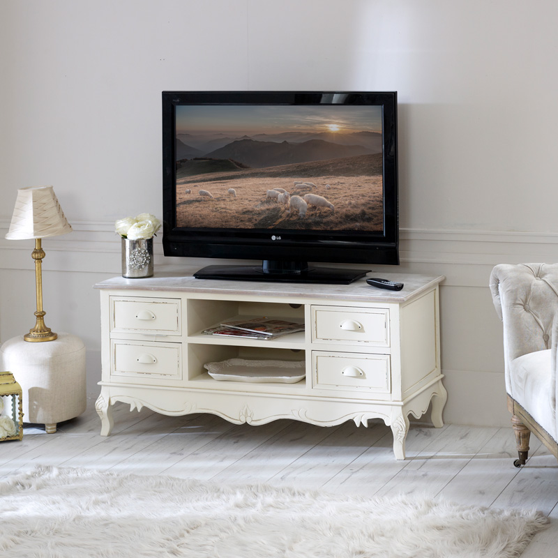 Country Ash Range - Large TV Cabinet with Drawers