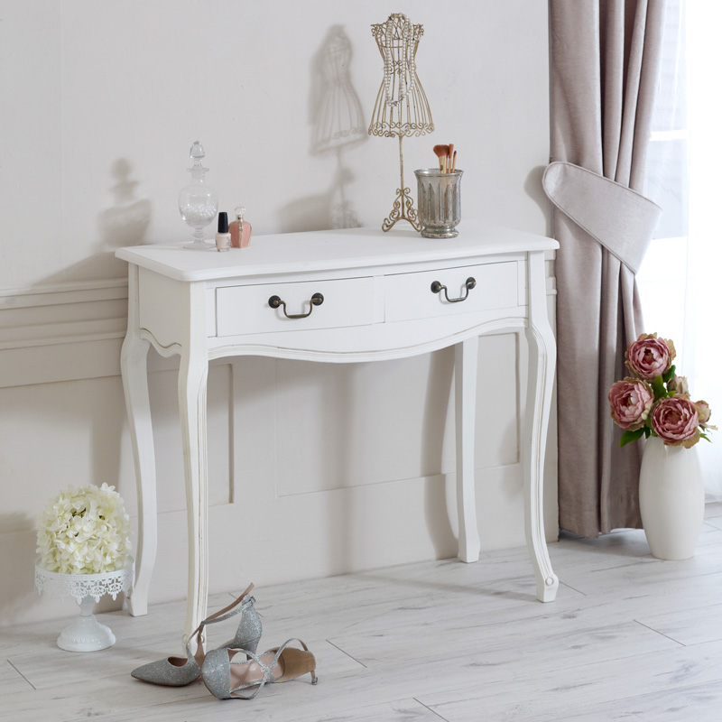 Classic White Range - Console / Dressing Table with Drawers