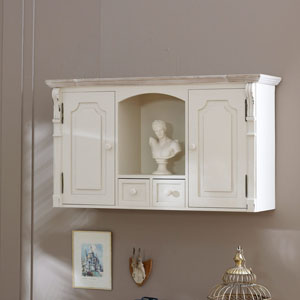 Lyon Range - Cream Wall mountable cupboard unit