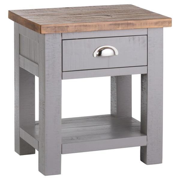 Large Grey Bedside / Side Table - Westminster Range