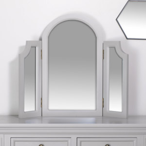 Tabletop Triple Vanity Mirror - Daventry Dove-Grey Range