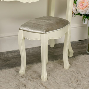 Cream Painted Dressing Table Stool - Elise Cream Range