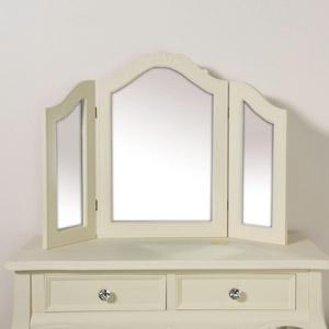 Triple Style Dressing Table Mirror - Elise Cream Range