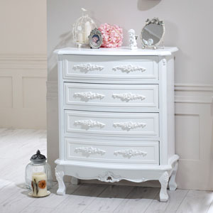 Rose Range - White 4 Drawer Chest