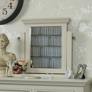 Dressing Table Vanity Swing Mirror - Daventry Grey Range