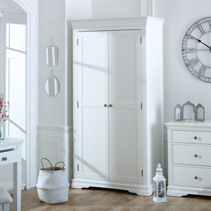 White 2 Door Wardrobe - Newbury White Range