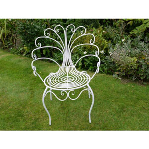 White Peacock Garden Chair