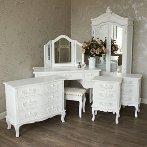 7 Piece Bedroom Furniture Set - Pays Blanc Range